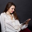 Girl with a Tablet PC — Stock Photo #19149211