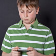 Teen playing on the phone — Stock Photo