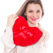 Girl with heart — Stock Photo #19281905