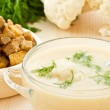 Soup Cream of cauliflower — Stock Photo #20134279