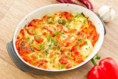 Vegetables baked with cheese — Foto de Stock