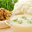 Soup Cream of cauliflower — Stock Photo