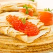Pancakes with red caviar — Stock Photo #20975587
