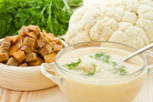 Zuppa crema di cavolfiore — Foto Stock
