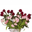Bouquet of roses and tulips — Stock Photo