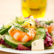 Fresh salad with shrimp — Stockfoto #21962627