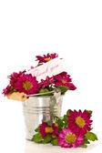 Tack med blommor — Stockfoto