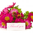 Stock Photo: Thanks with flowers