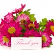 Thanks with flowers — Stockfoto