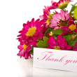 Stok fotoğraf: Thanks with flowers