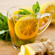 Ginger tea — Stock Photo