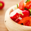 Fresh salad of radish and tomatoes — ストック写真