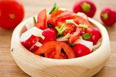 Fresh salad of radish and tomatoes — Stock Photo