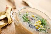Vegetabiliska mos soppa — Stockfoto