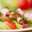 Fresh salad with beans — Stock Photo