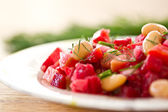 Beet salad with beans — Stock Photo