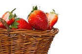 Ripe strawberries in a basket — Stock Photo