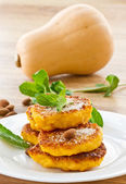 Pumpkin pancakes — Stock Photo