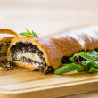 Stock Photo: Roll with poppy seeds
