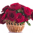 Roses in a wicker basket — Stock Photo #25698565