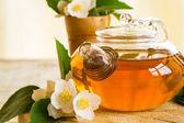 Geurige jasmijn thee — Stockfoto