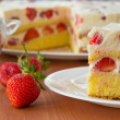 Strawberry cream cake — Stock Photo #26370269