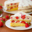 Strawberry cream cake — Stock Photo #26370279