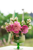 Jasmine bouquet with peonies — Stock Photo
