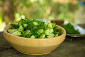 Summer salad of cucumber — Stock fotografie