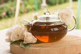 Herbata z różami — Zdjęcie stockowe