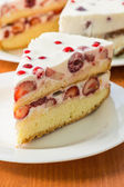 Cake with summer fruit — Stock Photo
