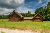 Wooden farmhouse in Pyrohiv in Ukraine — Stock Photo