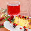 Stock Photo: Cottage cheese pie with berries