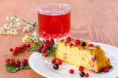 творожный пирог с ягодами — Стоковое фото