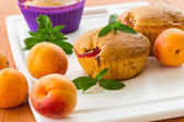 Muffins with apricots — Stock Photo