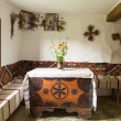 Stock Photo: Interior of old Ukrainirural home
