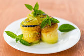 Zucchini rolls with fillings — Stock Photo