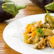 Eggplant stewed with vegetables — Stock Photo