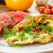 Omelet with vegetables — Stock Photo #29506529