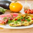 Omelet with vegetables — Stock Photo #29506535