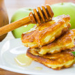 Pancakes with apples and honey — Stock Photo #29640203