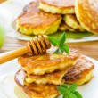 Pancakes with apples and honey — Stock Photo #29640207