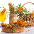 Sea buckthorn tea — Stock Photo