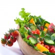 Salad with fresh cucumbers and tomatoes — Stock Photo #30490783