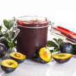 Plum jam — Stock Photo