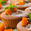 Stock Photo: Pumpkin muffins