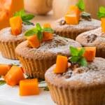 Pumpkin muffins — Stock Photo