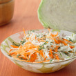 Fresh salad of cabbage and carrots — Stock Photo