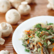 Braised cabbage with mushrooms — Stock Photo