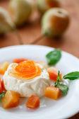 Fruit Panna Cotta — Stock Photo